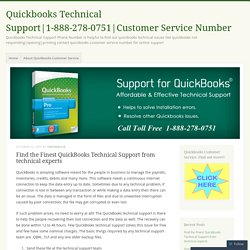 Find the Finest QuickBooks Technical Support from technical experts