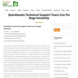 Quickbooks Technical Support Team Can Fix Bugs Instantly - QuickBooks Customer Service Phone Number