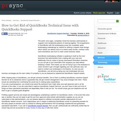 How to Get Rid of QuickBooks Technical Issue with QuickBooks Support