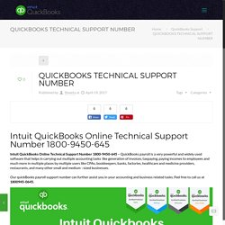 QUICKBOOKS TECHNICAL SUPPORT NUMBER 1800-9450-645