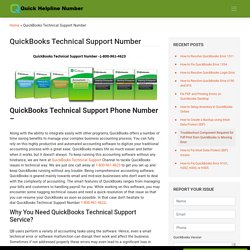 QuickBooks Technical Support Number @1800-961-4623