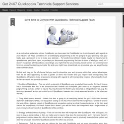 Save Time to Connect With QuickBooks Technical Support Team