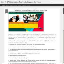 Get 24X7 Quickbooks Technicla Support Services: QuickBooks Technical Support – Get Instant Support Now