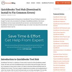 Quickbooks Tool Hub: How To Use QB Tool hub - Accountwizy.com