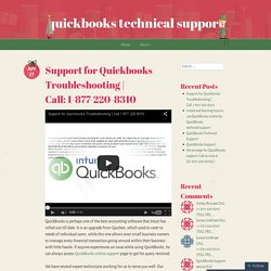 Support for Quickbooks Troubleshooting