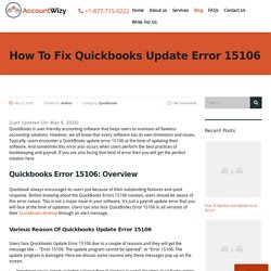 How To Fix Quickbooks Update Error 15106 - AccountWizy