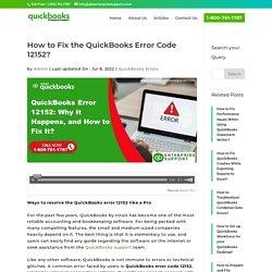 QuickBooks Update Error 12152 - Causes & Methods to Fix It