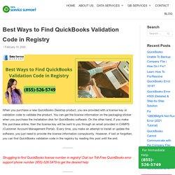 Best Ways to Find QuickBooks Validation Code in Registry