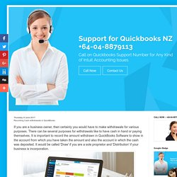 Quickbooks Customer Service Phone Number - NZ: Recording Cash withdrawals in QuickBooks