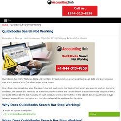 QuickBooks Search Not Working - QuickBooks Errors Solution