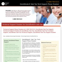800-760-5113-QuickBooks® Sale Tax Technical Support Number