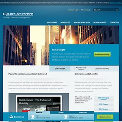 Quickcomm – Telecom Expense Management, TEM
