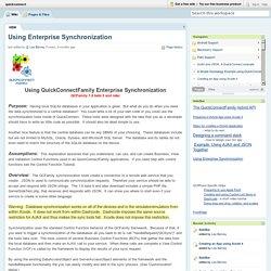 quickconnect / Using Enterprise Synchronization