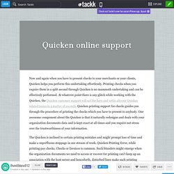 Quicken online support