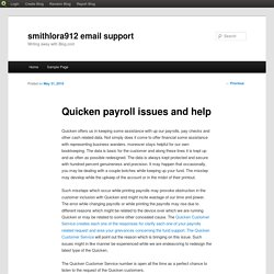 Quicken payroll issues and help