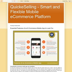 Quick eSelling – All in One Store for eCommerce Mobile App