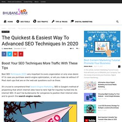 The Quickest & Easiest Way To Advanced SEO Techniques In 2020