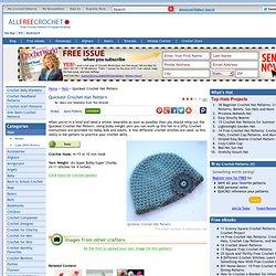 Quickest Crochet Hat Pattern