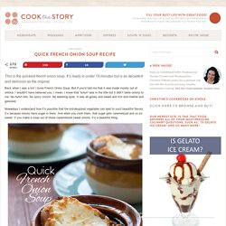 Quickest French Onion Soup Recipe