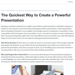 The Quickest Way to Create a Powerful Presentation