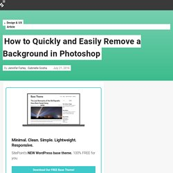 How to Quickly and Easily Remove a Background in Photoshop