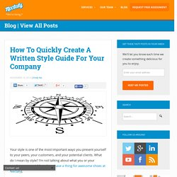 How To Quickly Create A Written Style Guide For Your Company
