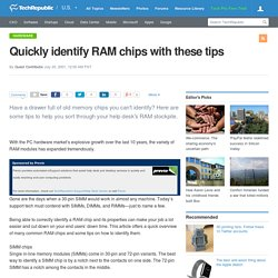 Quickly identify RAM chips with these tips