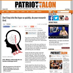 Don't buy into the hype so quickly, do your research first - Patriot Talon: Opinion