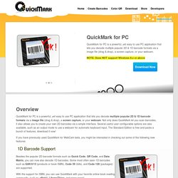 QuickMark QR Code Reader - Barcode Scanner - Read barcode from WebCam.