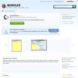 QuickNote :: Modules pour Firefox