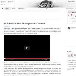 QuickOffice dans le nuage avec Connect