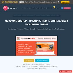 QuickOnlineShop - Amazon Affiliate Store Builder WordPress Theme