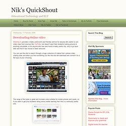 Downloading Online video