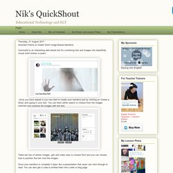 Nik's QuickShout: Illustrate Poems & Create Short Image Based Narrative