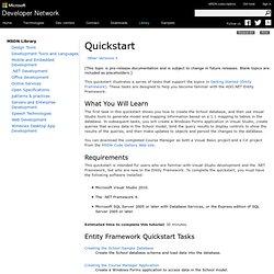 Quickstart (Entity Framework)