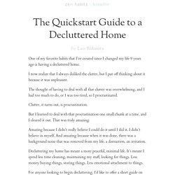 The Quickstart Guide to a Decluttered Home