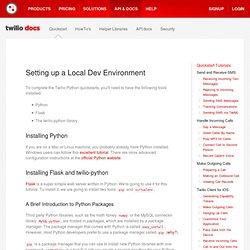 Docs - Quickstart Python Devenvironment