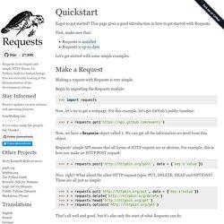 Quickstart — Requests 2.12.1 documentation