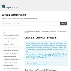 QuickStart Guide for Assessors