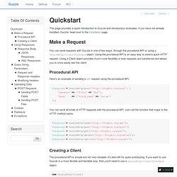 Quickstart — Guzzle documentation