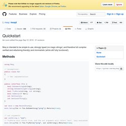 Quickstart · moq/moq4 Wiki