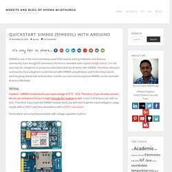 Quickstart SIM800 (SIM800L) with Arduino