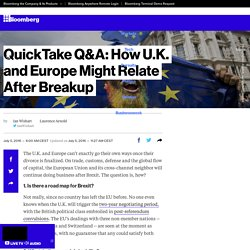 QuickTake Q&A: How U.K. and Europe Might Relate After Breakup
