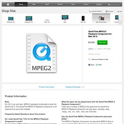 QuickTime MPEG-2 Playback Component for Mac OS X - Apple Store (