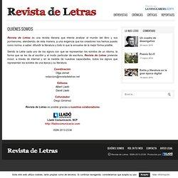 Quiénes Somos - Revista de Letras