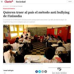 Quieren traer al país el método anti bullying de Finlandia