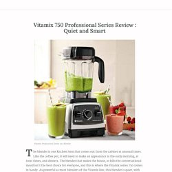 Quiet and Smart: Vitamix 750