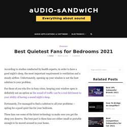 Best Quietest Fans for Bedrooms 2021 – Audio Sandwich
