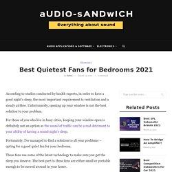 Best Quietest Fans for Bedrooms 2021 – Audio Sandwich