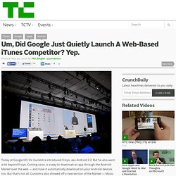 Um, Did Google Just Quietly Launch A Web-Based iTunes Competitor